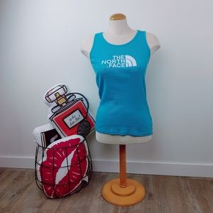 THE NORTH FACE   Turquoise Ribbed Tank Top Size M
